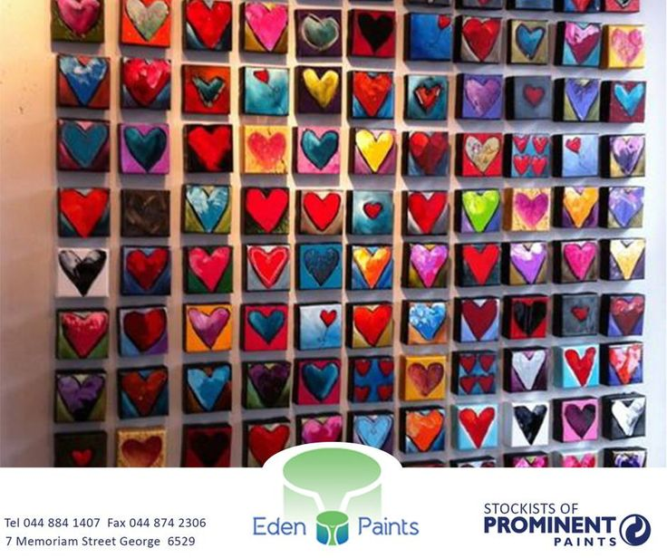 Seeing that it's #ValentinesDay, we thought that we would inspire you with a gorgeous painted heart mural. Happy Valentine's Day! #EdenPaints #love
