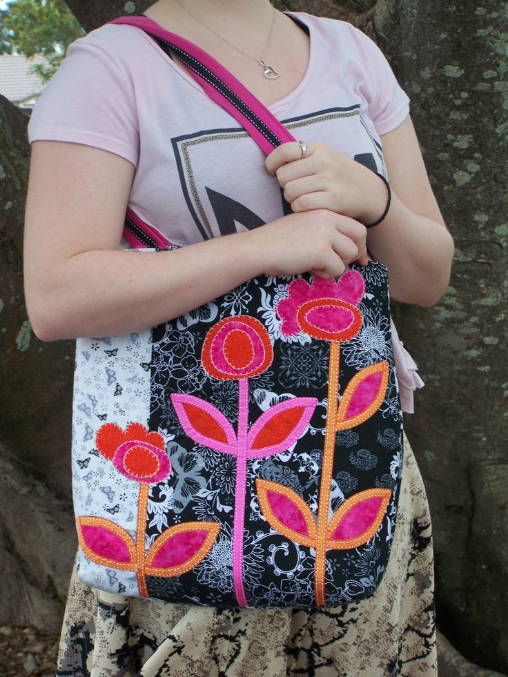 Made from a pattern in a magazine, I use this bag when I have a seriously huge amount of stuff to haul around!
