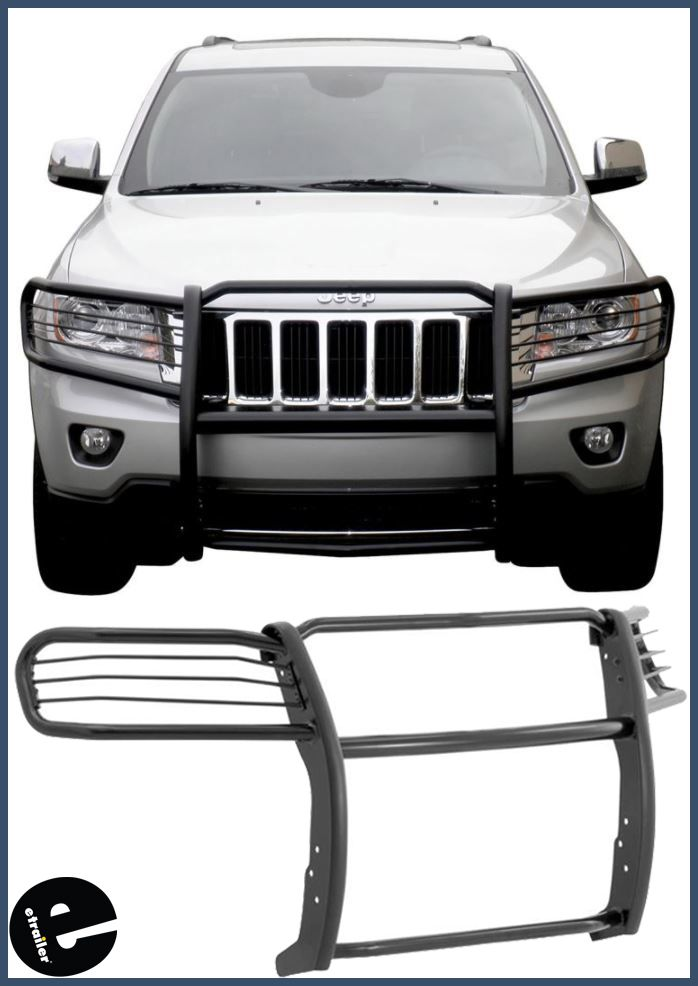 Aries Grille Guard 1 Piece Semi Gloss Black Powder Coated Steel With Images Jeep Grand Cherokee Jeep Grilles