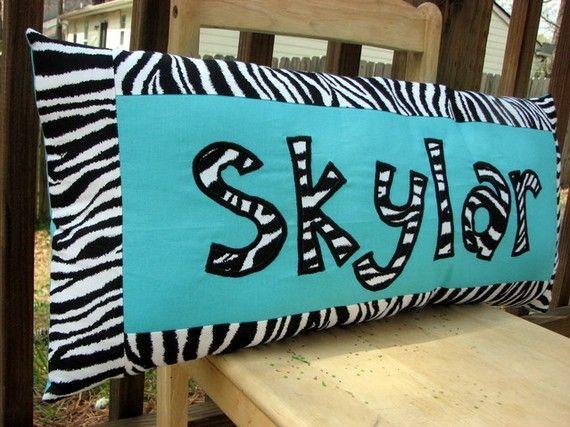 18 best my twin girls new room zebra hot pink light aqua for Blue zebra print bedroom ideas