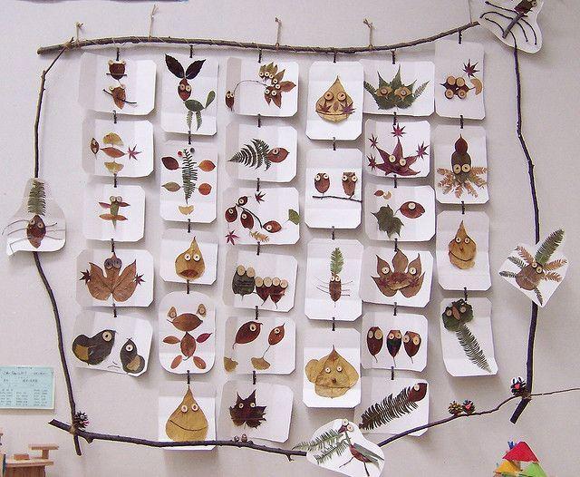 Decoración hojas de otoño para la clase