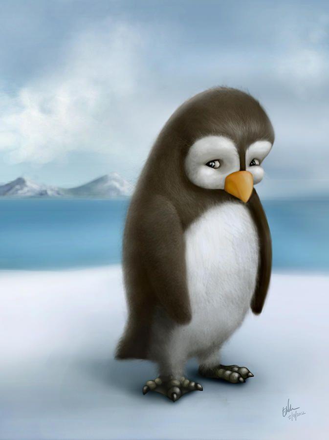 грустный пингвин картинка характеристика
