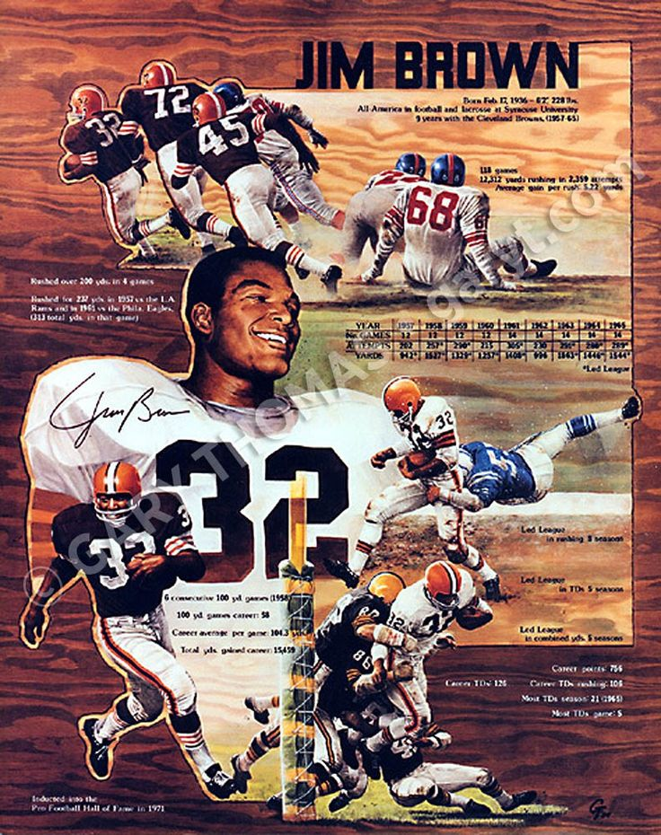 by Gary Thomas Jim brown, Cleveland browns history