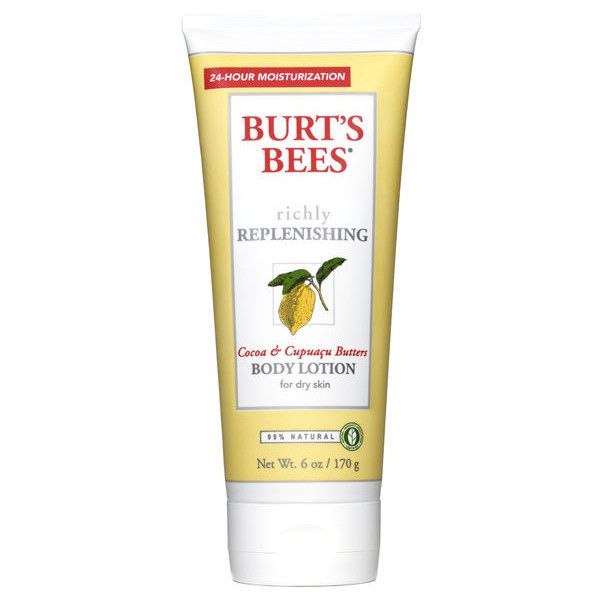 Burt's Bees Body Lotion - Cocoa Butter 6fl oz (270 MXN) ❤ liked on Polyvore featuring beauty products, bath & body products, body moisturizers, burt's bees and body moisturizer