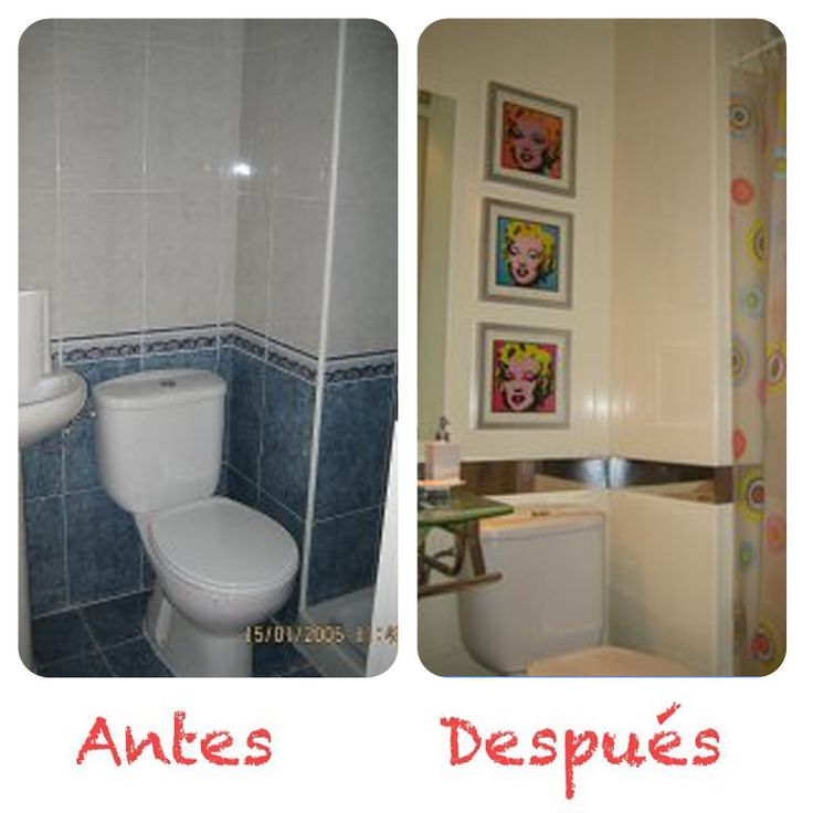 Reforma Baño Hogarutil:suelo vinilico, pintura azulejos, cuadros