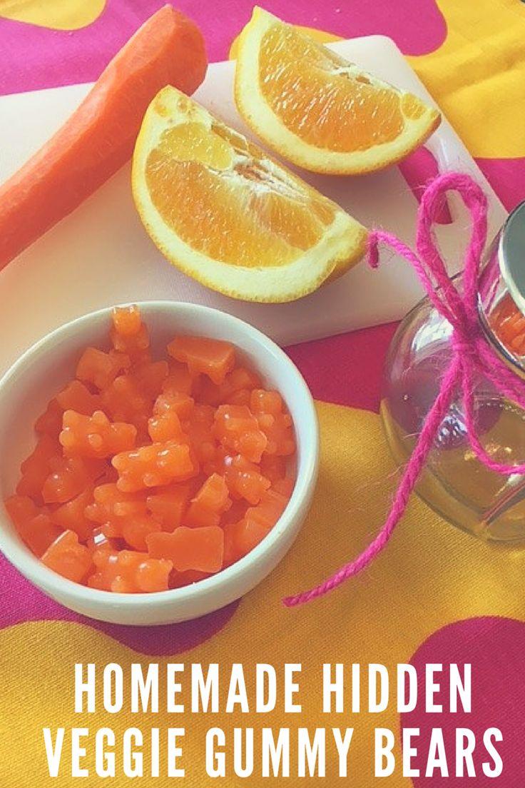 homemade hidden veggie gummy bears