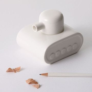 Pencil Sharpener - A little white Tank!