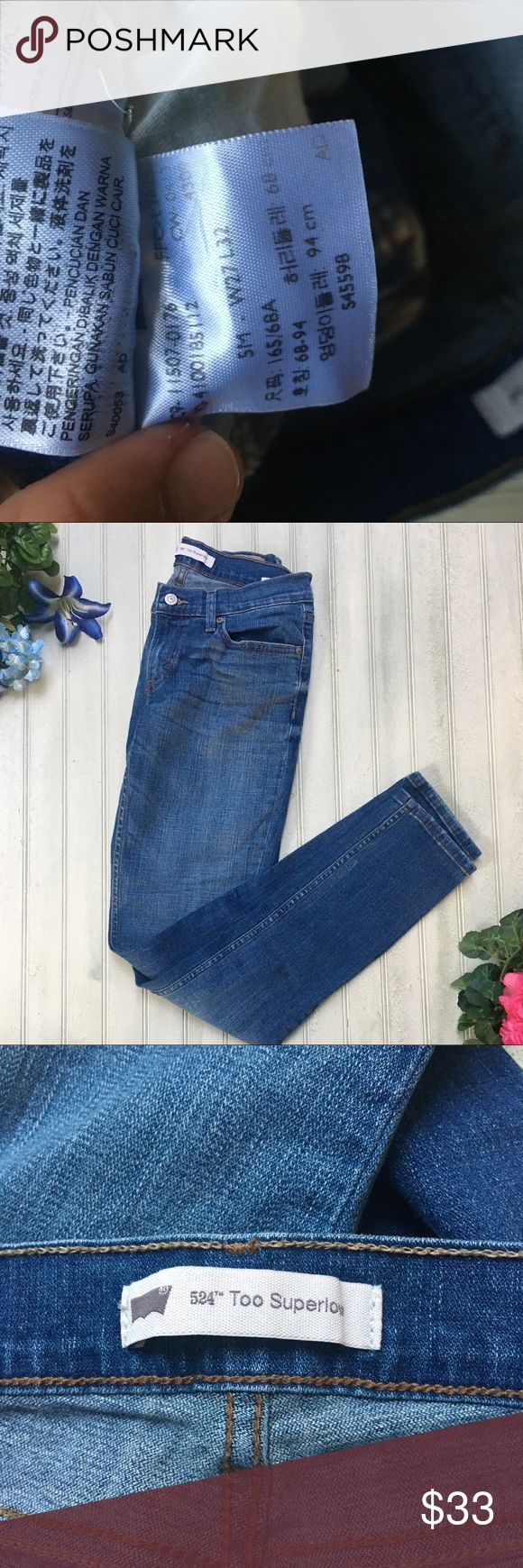 Levi's Skinny Jeans - Too Super Low Levi's Skinny Jeans Low Rise •Waist: 27in Length: 32in  •Excellent Used Condition, Few to no signs of wear!  📦 Same to Next Day Shipping 💲Don't like the price? Make me an offer! Most reasonable offers are accepted! ❓Have questions?  Ask! I'd love to help in any way I can! Levi's Jeans Skinny