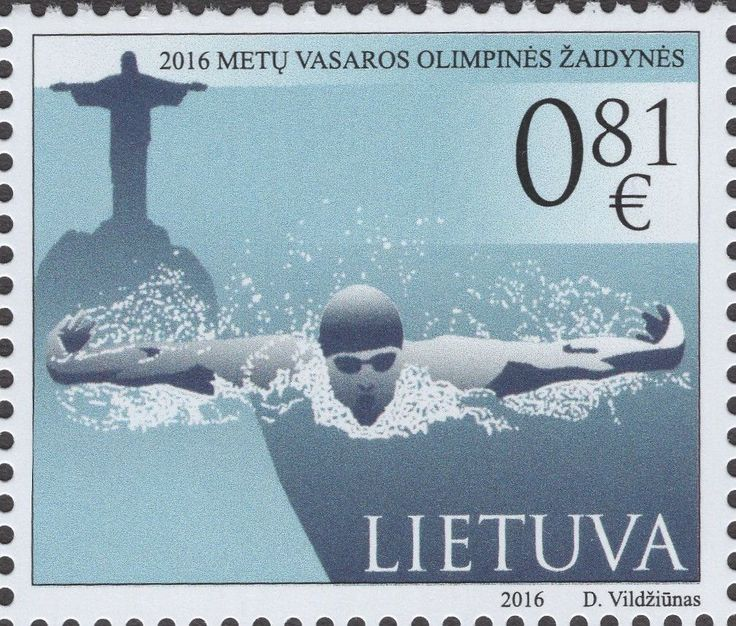 Lithuania - 2016 Rio Olympic Games, Set of 2 (MNH)