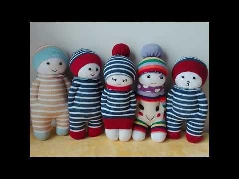 How to Make a Sock Doll, DIY dolls from socks (2 socks style) - YouTube