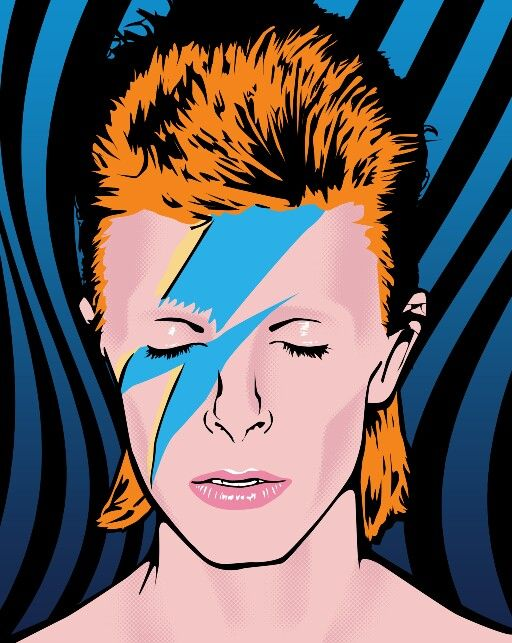 David Bowie Pop Art ~~ For more:  - ✯ http://www.pinterest.com/PinFantasy/arte-~-pintura-pop-art/