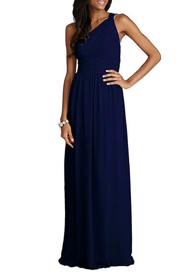 Donna Morgan One Shoulder Chiffon Gown