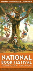 2004 Library of Congress National Book Festival Poster. Poster Artist: Floyd Cooper.
