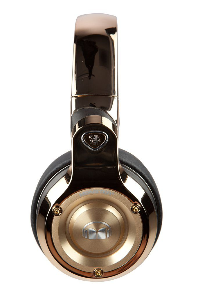Monster's 24K Headphones definitely bring out the bling.