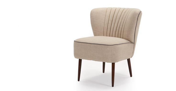Jersey stoel, biscuitbeige