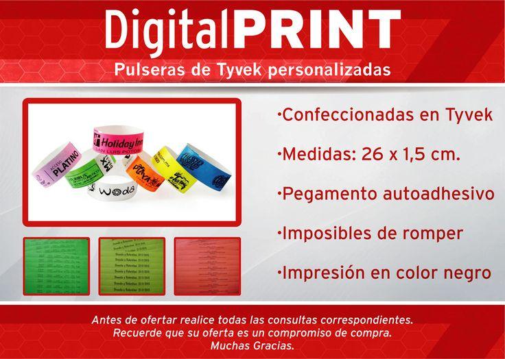 Pack 100 U. Pulseras Impresas Tyvek Identificación Eventos - $ 160,00 en Mercado Libre