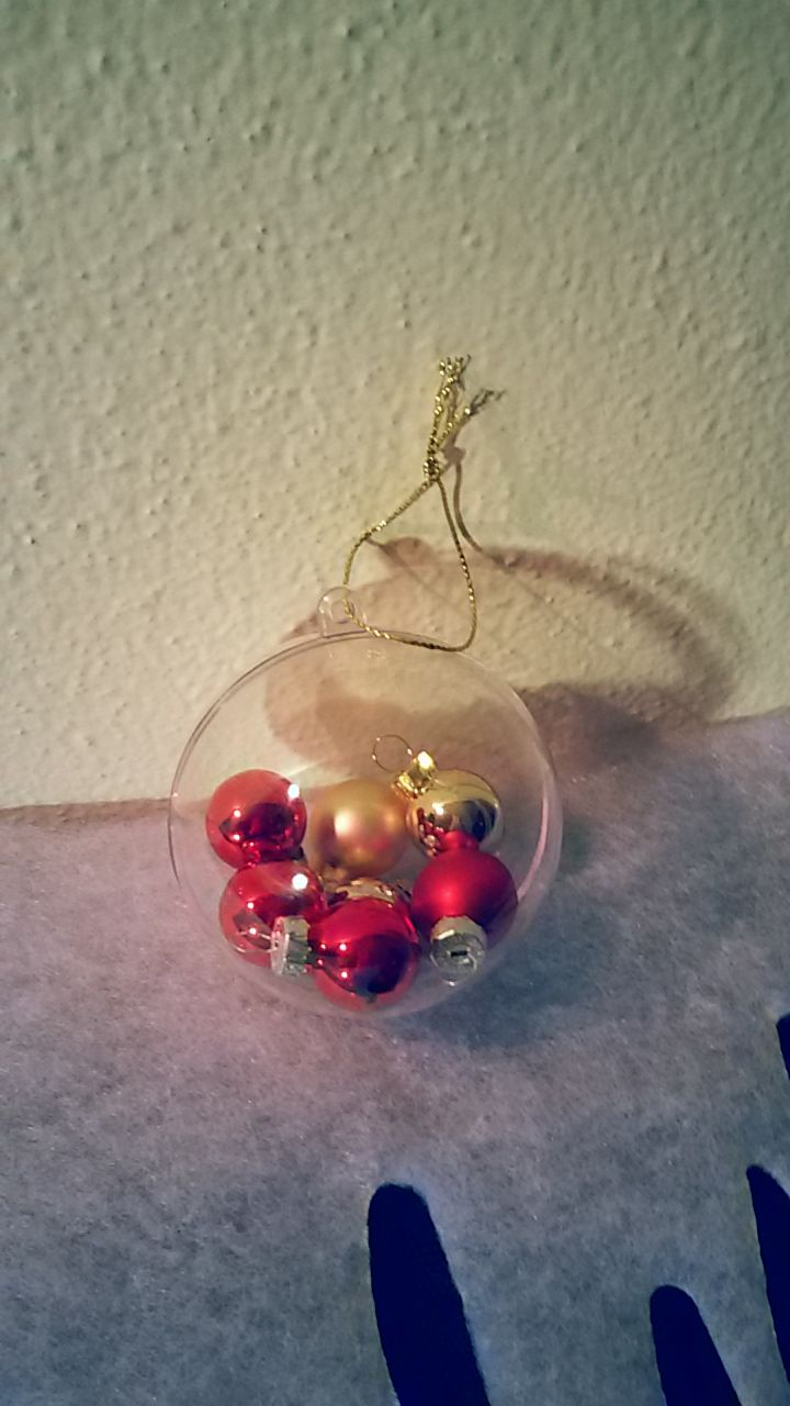 Easy and elegant diy christmas ball Lovely ornaments to make with children :)