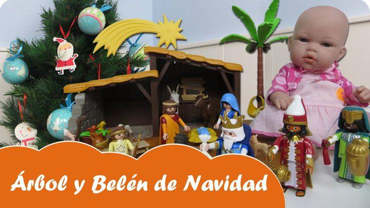 Vídeos de muñecas juguetes de bebés en español. En Mundo Juguetes decoraremos nuestro árbol de Navidad y montaremos el Belén y los Reyes Magos de Playmobil. Nos acompañará un Papá Noel XXL de Playmobil y nuestra muñeca bebé Lucía nos ayudará a decorar el árbol. Seguro que se lo pasará genial.... ¡Disfruta de este entretenido juego infantil de Playmobil para niños a partir de cuatro años! Diviértete con este vídeo en Mundo Juguetes, tu canal de vídeos de juguetes de Playmobil en español.