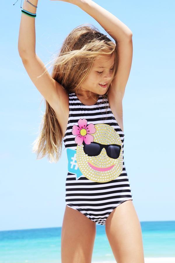d062f864396ae Alia One Piece swimsuit for tween girls by limeapple the #1 tween brand  #swimwear #emojis