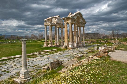 Aphrodisias Tetrapylon.  Turkey made Lonely Planet's 2013 Top 10 countries to visit