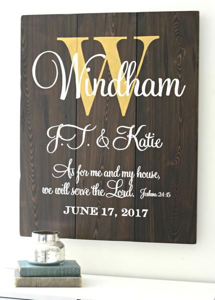 Wedding family personalized sign by Aimee Weaver Designs