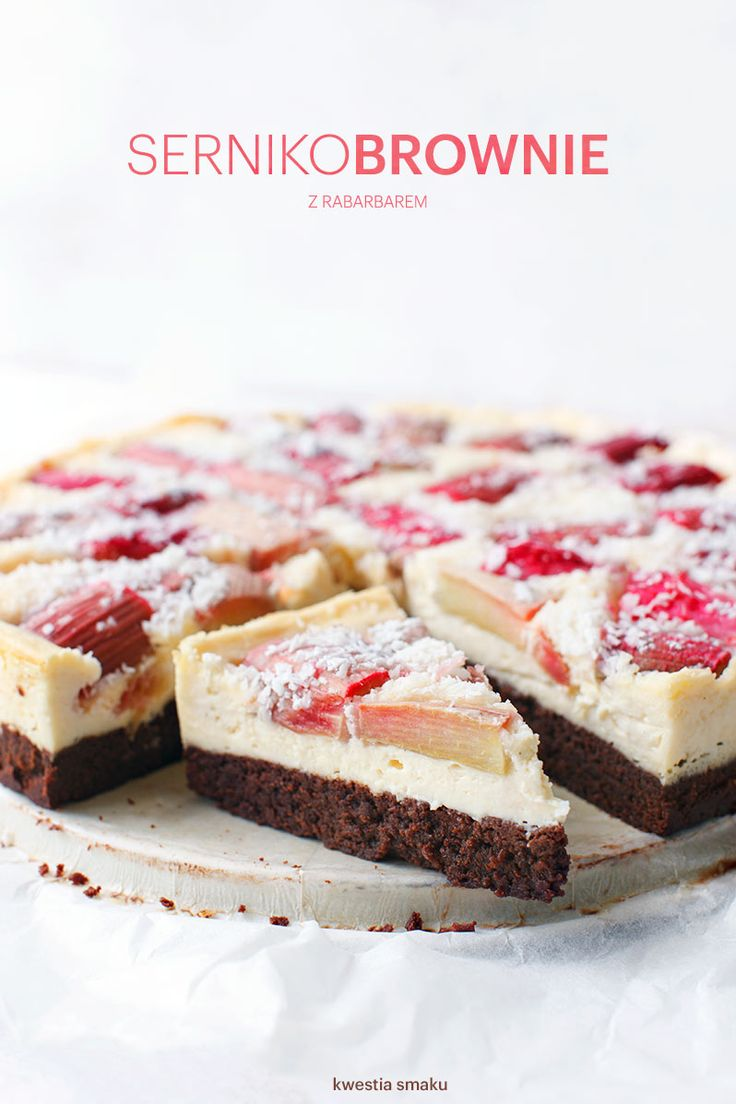 rhubarb cheesecake brownie
