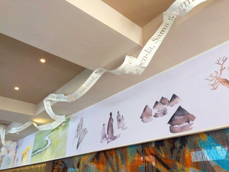 Riu Palace Cape Verde work of art in the lobby area - All Inclusive hotel in Cape Verde