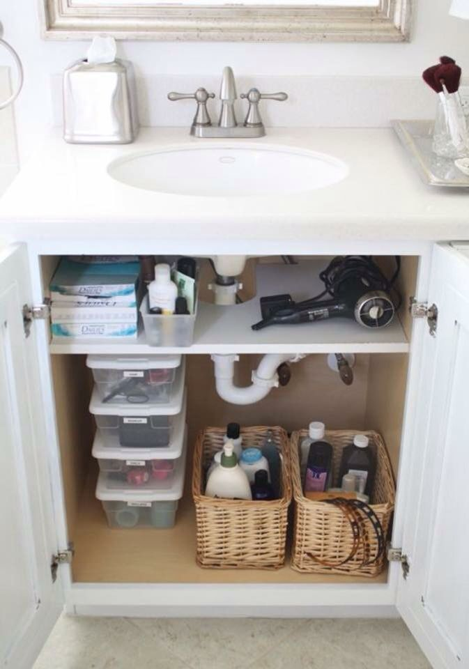 25 best ideas about under bathroom sinks on pinterest - Under sink bathroom storage cabinet ...