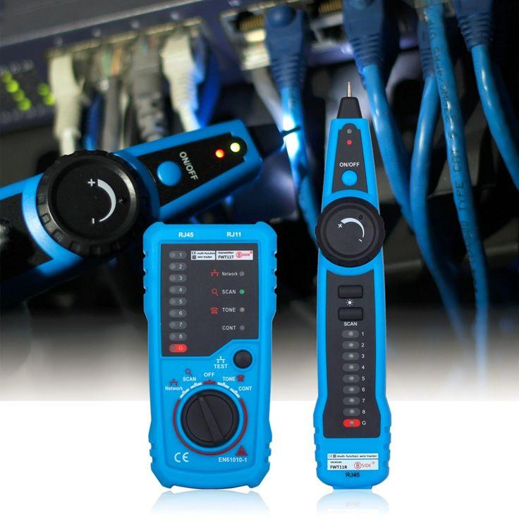 Alta Calidad RJ11 RJ45 Cat5 Cat6 Teléfono Toner Perseguidor Del Alambre Trazador Ethernet LAN Red de Cable Tester Línea Detector Buscador