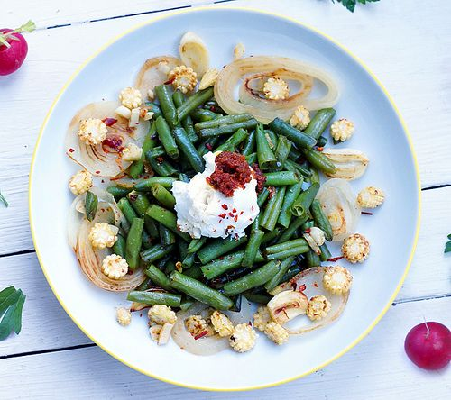 Зеленая фасоль с перцем чили и вялеными томатами | Salatshop ♥ You