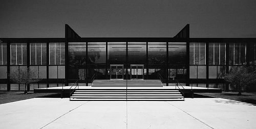 Ludwig Mies van der Rohe Crown Hall at the Illinois Institute of Technology. Designed in 1956, and still eerily futuristic to this day