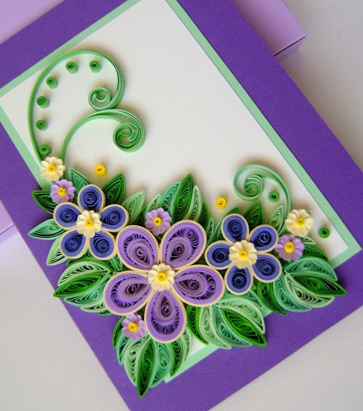 Мастер класс цветы для открытки, день знаний