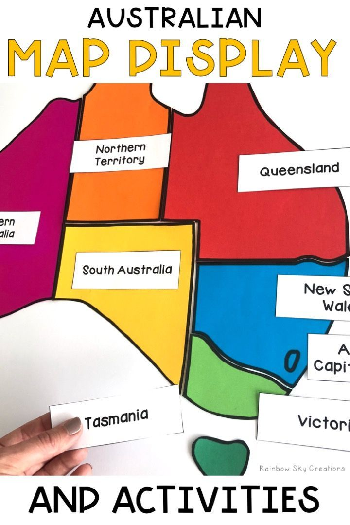 Map Of Australia For Students.Australian Map Display And Geography Activities Australia