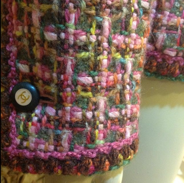 Lovely Tweed Colours   Crocheted Edge