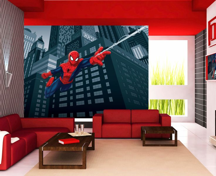 The Amazing Spiderman Wallpaper Mural by WallandMore!  Free Shipping Worldwide! Great for Boy's Room.