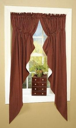 Virginia House Swag Curtains as featured in Country