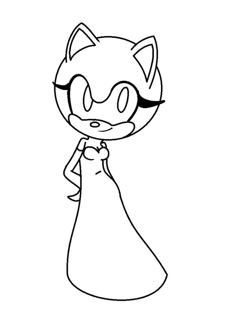 Base 3 - Female Sonic Base by DaisyMGirlBases