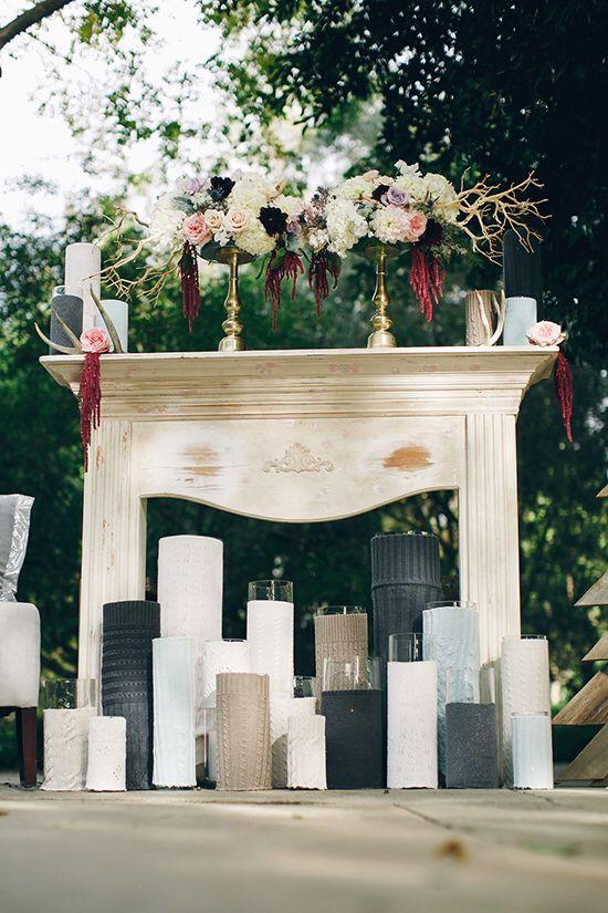Камин на свадьбе