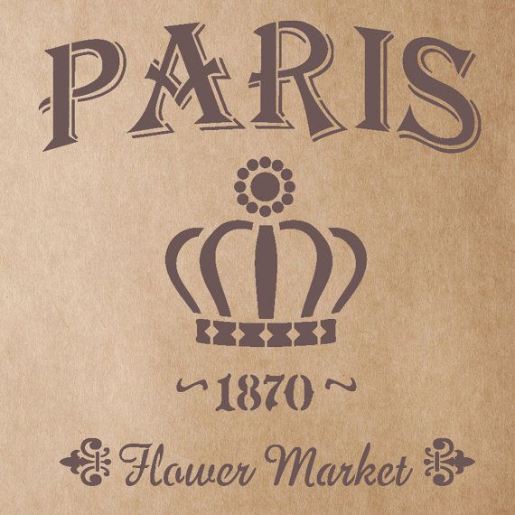 Flower Market 1870 Stencil for Painting Signs Crafting DIY Wall decor