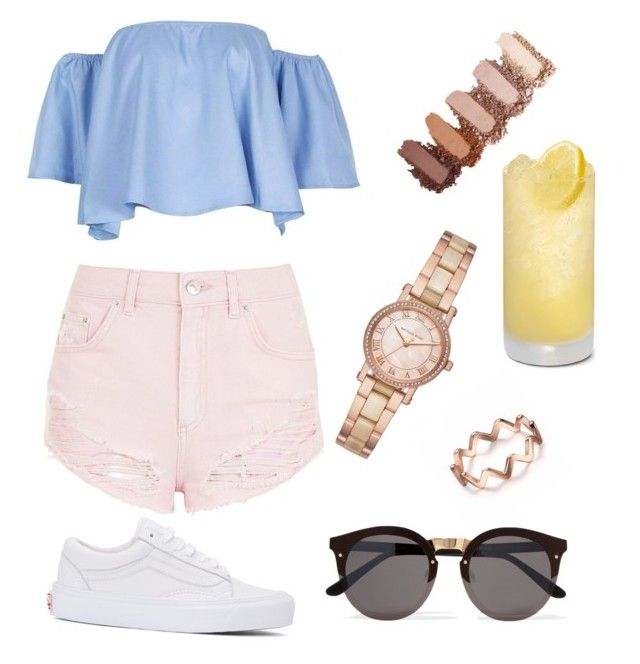 """""""🌞"""" by ssimuhina on Polyvore featuring Vans, Topshop, Michael Kors and Illesteva"""