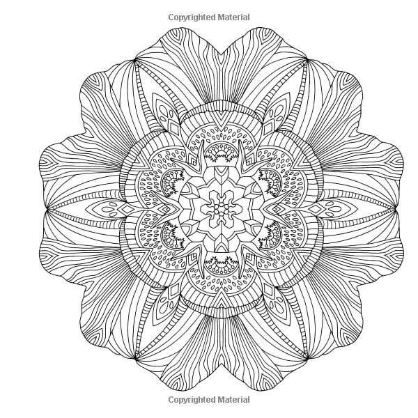 52 more flower mandalas an adult coloring book for inspiration and stress relief