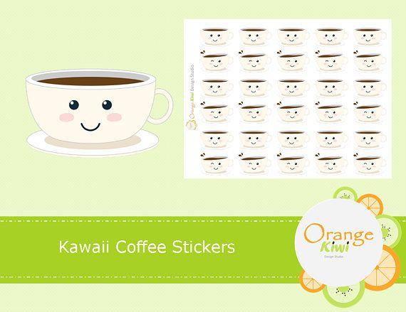 Coffe Stickers Kawaii Coffee Stickers Coffee Cup Stickers