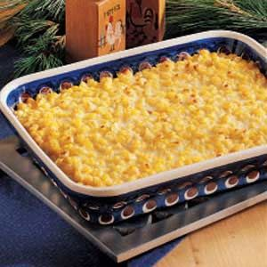 Special Creamed Corn.  To begin I hate corn period.  However, I made this for a family gathering and my whole family absolutely loved it.  They said it was actually better than my mother's, which is quite a compliment.  I skipped the cheese and baking part and just served it without this step.  I will cook again just to receive the compliments!