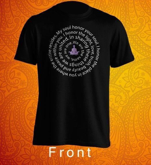 Yoga Yogi namaste mantra Tshirt unisex #Gildan