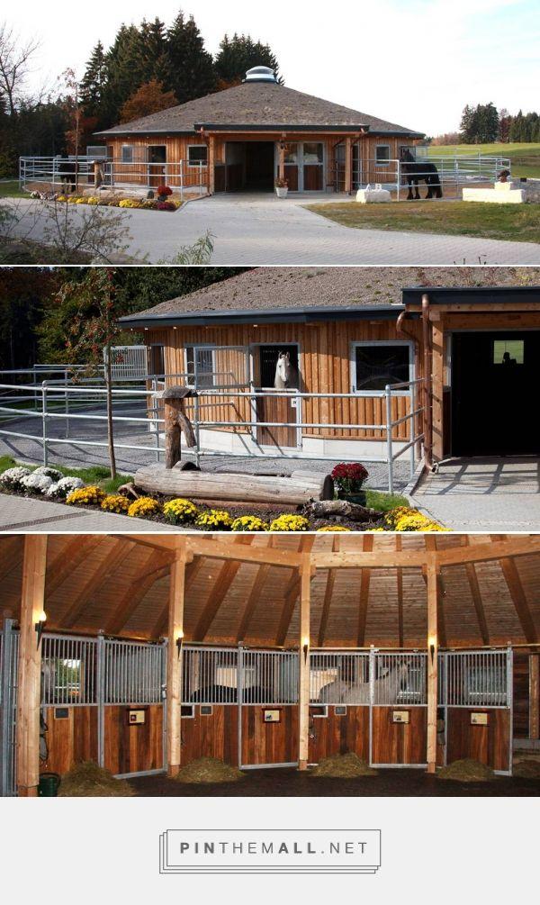 Round stable barn  . Stabling Arrangements Anja Beran - created via http://pinthemall.net