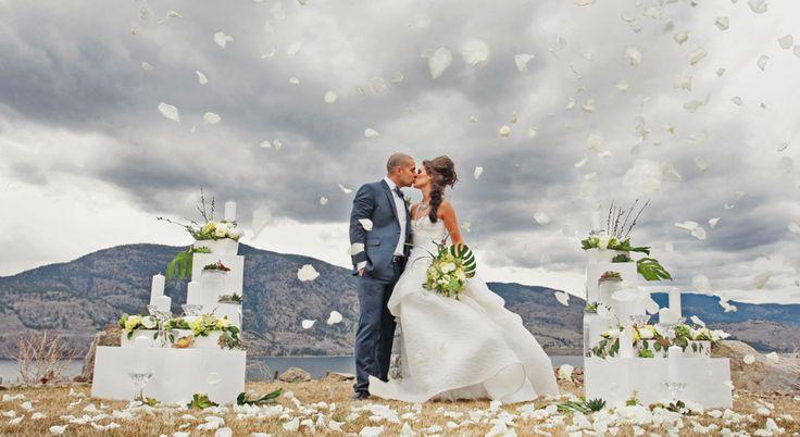 Flying petals...love! Brandon Elliott Photography