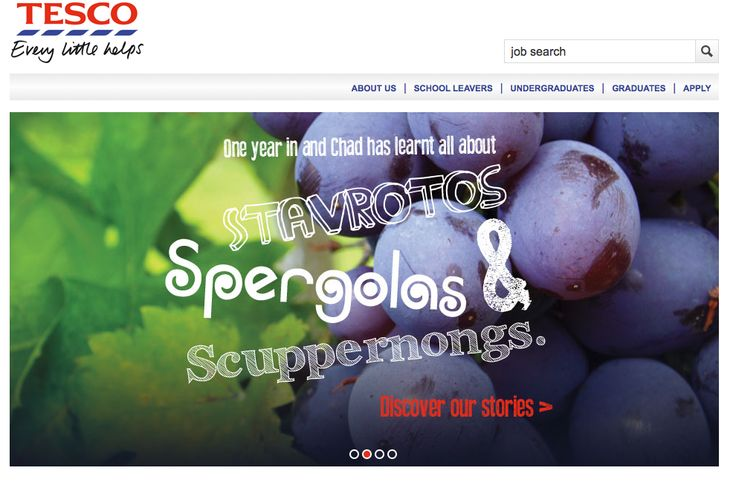 A quick snapshot of the www.tesco-graduates.com website that went live today.