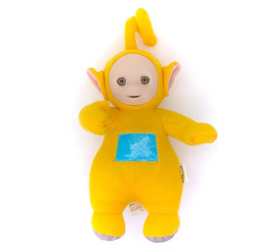 Vintage Teletubby Yellow Laa-Laa Talking Singing Plush Soft!  Follow Me & Use The Coupon Code PINTEREST For 10% Off Your ENTIRE Order of 80s & 90s Cute Vintage Toys at www.CuteVintageToys.com Dozens of G1 My Little Ponies, Polly Pockets, Popples, Strawberry Shortcake, Care Bears, Rainbow Brite, Moondreamers, Keypers, Disney, Fisher Price, MOTU, She-Ra Cabbage Patch Kids, Dolls, Blues Clus, Barney, Teletubbies, ET, Barbie, Sanrio, Muppets, Sesame Street, & Fairy Kei!