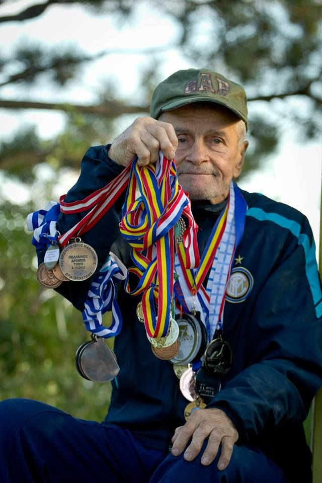 """Please allow me to introduce you Mr. Dumitru Radu (87 year old), an agile and vivacious old man from Piatra Neamt/ Romania whose vitality could arouse the envy of every young person.He is very determined and he doesn't plan to stop too soon: """"for me running means life. There are 2 motivating aspects in my life: the oxygen which feeds the human cells and the will of reaching the finish line. During these 40 years I've never quit any race"""" More details on www.MaiaOutdoor.ro"""