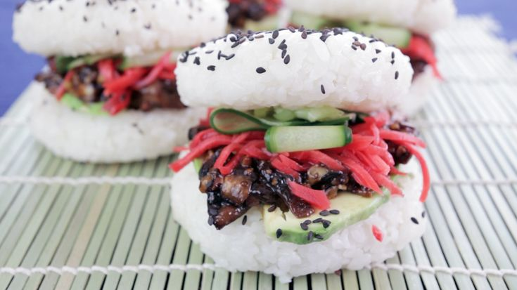 Makes 5 sushi burgers. Ingredients For the sushi rice… 2 cups sushi rice 2 1/2…